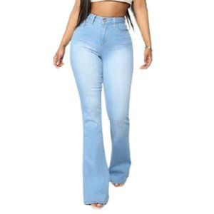 Fashion Nova Stretchy Jodie High Rise Flare Jeans